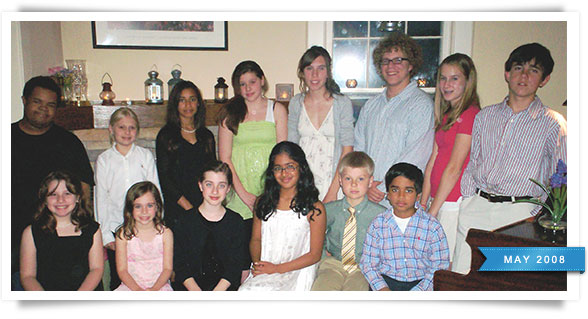 Students from Tuesday night's recital