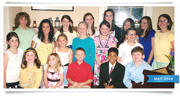 Students from Thursday night's recital