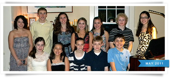 Students from Wednesday night's recital